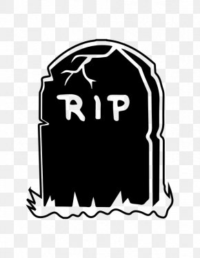Tomb Cliparts Silhouette - T-shirt Sticker Headstone Rest In Peace Zazzle PNG