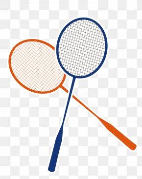 Hand-painted Badminton Racket - Badmintonracket Badmintonracket PNG