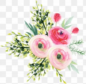 Refined Aesthetic A Bouquet Of Flowers - Garden Roses Flower Bouquet PNG