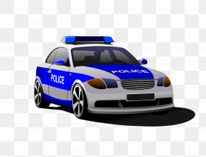 Hand-painted Cartoon Police Car - Police Officer Police Car Royalty-free PNG