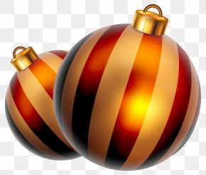 Striped Christmas Balls Clipart Image - Christmas Ornament New Year Clip Art PNG