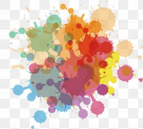 Graffiti Vector Color Pigments - Ink Watercolor Painting Euclidean Vector PNG