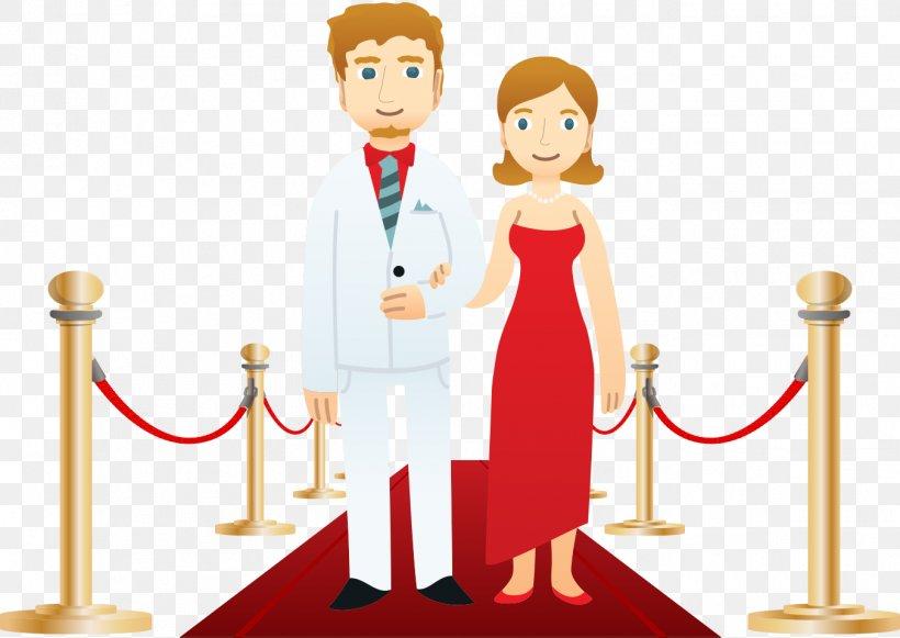 Red Carpet Clip Art Png 1351x958px Red Carpet Bride Cartoon Couple Human Behavior Download Free