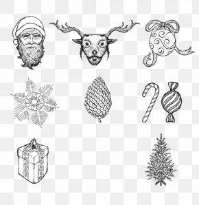 Santa Claus Christmas Gift Candy Snowflakes - Santa Claus Christmas Tree Snowflake PNG