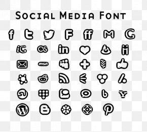 Black Font - Social Media Font Awesome Font PNG