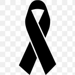 Black Ribbon - Black Ribbon Awareness Ribbon Orange Ribbon Logo PNG