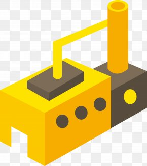 Brick Design Warehouse Icon - Factory Building Icon PNG