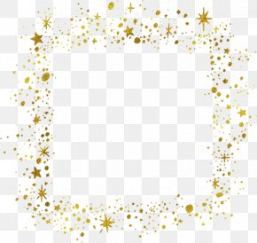 Gold Stars Border - IPhone 6 Clip Art PNG