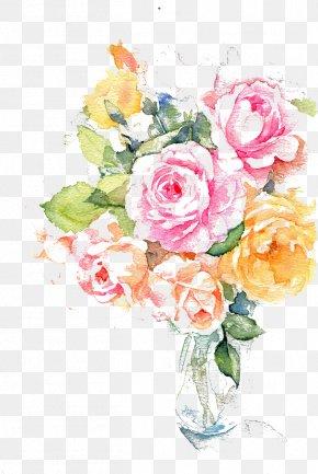 Water-color Ink Flower - Flower Ink Watercolor Painting PNG