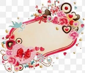 Ornament Visual Arts - Heart Pink Pattern Sticker Visual Arts PNG