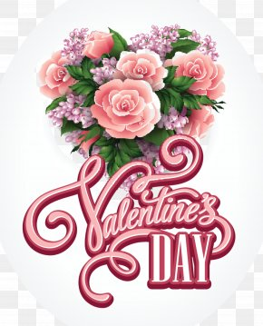 Valentine's Day Greeting & Note Cards Flower Bouquet Floral Design PNG
