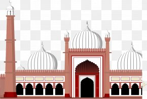 Vector Hand-painted European-style Castle - Quran Eid Al-Fitr Eid Mubarak Eid Al-Adha Wish PNG