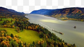 Canada And Colombia Three - Multnomah Falls Hood River The Dalles Columbia River Gorge Commission PNG