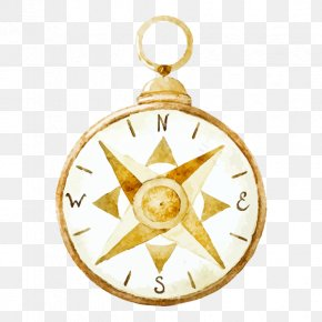 Compass - Watercolor Painting Drawing Royalty-free Compass PNG