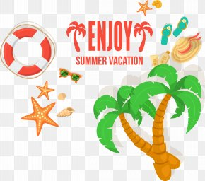 Vector Coconut Trees - Vacation Beach Summer Travel PNG