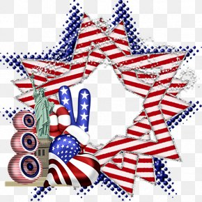 Fourth Of July Chihuahua - Christmas Decoration Flag Of The United States Clip Art PNG