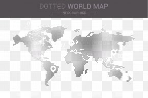 Vector Dotted World Map - Earth Globe World Map PNG