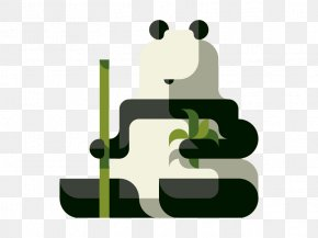 Flat Giant Panda - Giant Panda Drawing Behance Illustration PNG