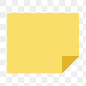 Sticky Note - Square Area Angle Yellow Pattern PNG