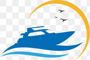 Cartoon Motorboat Material - Logo Ship Photography Icon PNG