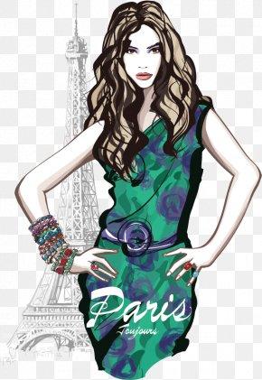 Fashion Beauty - Paris French Fashion Model PNG