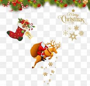 Christmas Decoration Image - Santa Claus's Reindeer Santa Claus's Reindeer Christmas Clip Art PNG