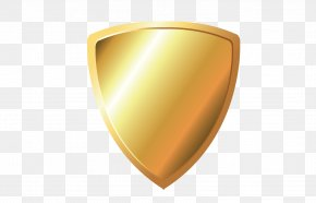 Golden Shield - Yellow Angle Font PNG