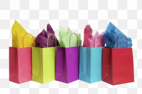 Color Shopping Bag - Shopping Bag Gift Paper PNG