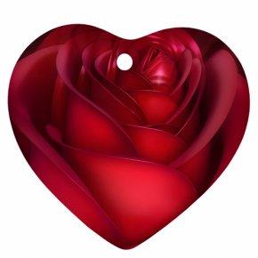 Big Heart - Garden Roses Heart Red Clip Art PNG