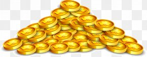 Vector Hand Painted Gold Coins - Gold Coin Euclidean Vector PNG