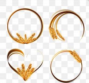 Golden Wheat Ring - Wheat Ear Euclidean Vector Clip Art PNG