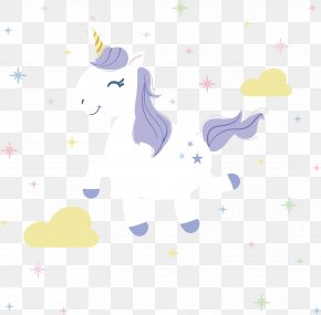 Happy Jumping White Unicorn - Unicorn PNG