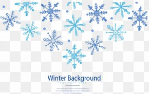 Winter Snowflake Background - Winter Snowflake Euclidean Vector PNG