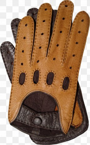 Leather Gloves Image - Leather Driving Glove Vintage Clothing PNG