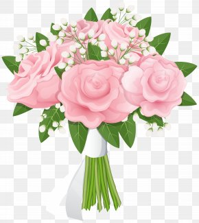 Rose Bouquet Free Clip Art Image - Flower Bouquet Rose Pink PNG