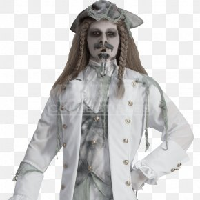 Ghost Costume - Halloween Costume Costume Party Sea Captain Clothing PNG
