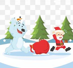 Lovely Santa Claus Vector Illustration Material - Stock Illustration Drawing Illustration PNG