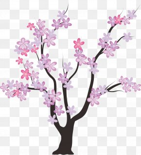 Cherry Tree Branches - Family Tree Template PNG
