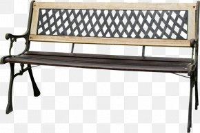 Hollow Seat - Bench Garden Furniture Metal Patio PNG