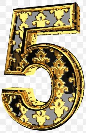 Elegant Vintage Number Five Clip Art Image - Clip Art PNG
