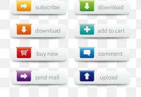 Vector Web Buttons Illustration - Web Button Web Design Icon PNG
