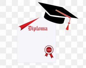 Dr. Cap Papers - Masters Degree Graduation Ceremony Illustration PNG