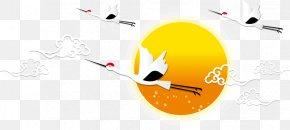 China Wind Sunrise Flying Crane - China Crane Sunrise PNG