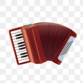 Vector Accordion - Diatonic Button Accordion Musical Instrument PNG