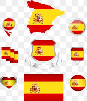 Vector Spanish Flag And Map - Flag Of Spain PNG