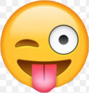Emoji - Emoji Smiley Emoticon Wink Tongue PNG