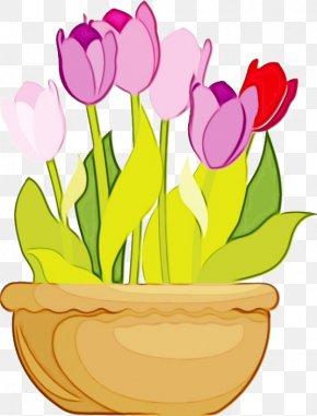 Magenta Lily Family - Flowerpot Pink Flower Pot Tulip Houseplant PNG
