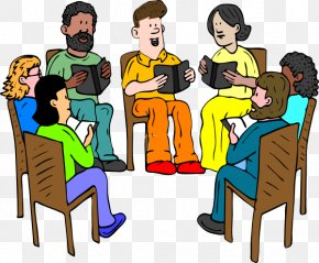 Praying Group Cliparts - SBI PO Exam Discussion Group Book Discussion Club Clip Art PNG