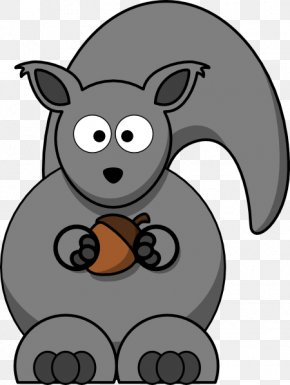 Squirrel Clip Art - Eastern Gray Squirrel Western Gray Squirrel Clip Art PNG