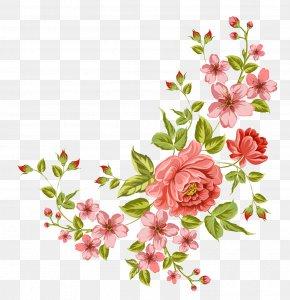 Corner Flower - Flower Clip Art PNG